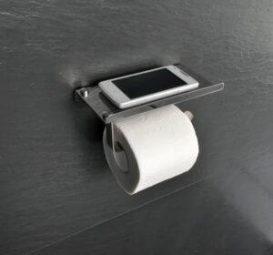 Держатель для туалетной бумаги с полкой для телефона